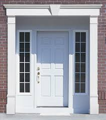 exterior door trim simple adding above front for a inspiration