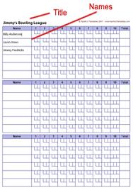 printable bowling score card score sheet