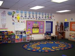 How To Decorate Nursery Classroom Preschool Classroom Design Ideas With Colorful Decoration And Safe