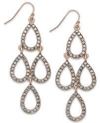 teardrop chandelier earrings lyst inc international concepts gold tone teardrop