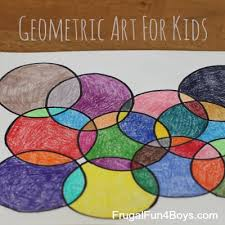 geometric art project kids printable coloring pages