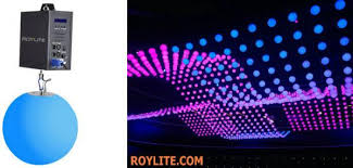 smd rgb color mixing kinetic led balls dmx motorized lifting color
