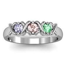 mothers day ring with birthstones mothers ring instead of stones on one ring two small bands