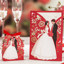 groom and groom wedding card laser cut wedding invitations 50pcs wishmade luxurious