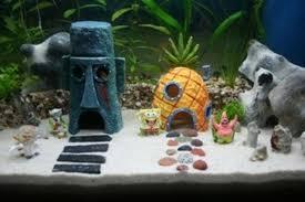 3 pcs large real spongebob aquarium decoration fish tank resin