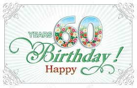 60 years birthday card greeting card birthday 60 years royalty free cliparts vectors