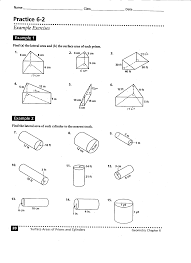 Surface Area And Volume Worksheets Grade 7 10 Best Images Of Triangular Prism Surface Area Worksheet
