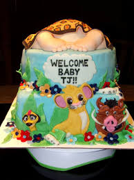 baby lion king baby shower simba lion king baby shower cake with baby s covered with