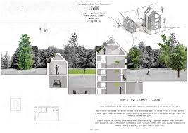 How Big Is A Garage Single Family House Presentation Board House Section