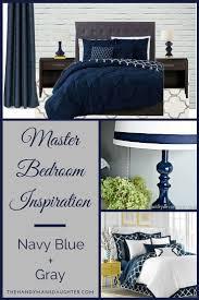 master bedroom inspiration navy blue and gray dark wood
