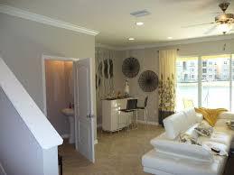 modern basement with ceiling fan u0026 specialty door in tampa fl