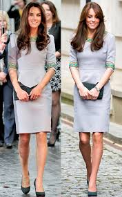 kate middleton dresses kate middleton recycles favorite sleek gray dress and sorry