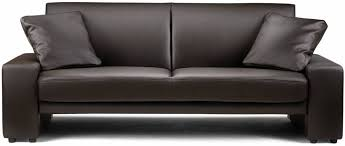 Black Faux Leather Sofa Buy Julian Bowen Supra Brown Faux Leather Sofa Bed Cfs Uk