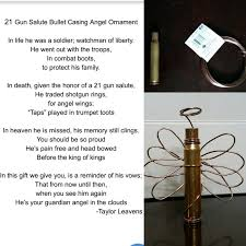diy 21 gun salute bullet casing ornament with poem as a