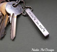 key rings mens images Coordinates bar keychain personalized key chain mens keychain jpg