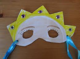 paper plate purim masks