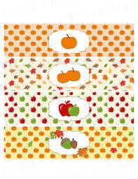 fall autumn printable water bottle labels instant