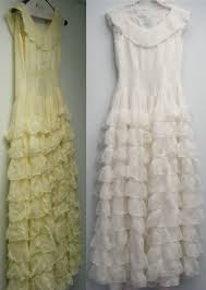 wedding dress restoration classic cleaners restores 1947 wedding gown beautiful wears it