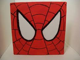 spider man square canvas painting kaleb u0027s room