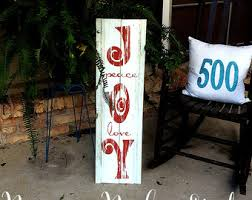 Outdoor Christmas Decorations Rustic by Holiday Signs Etsy