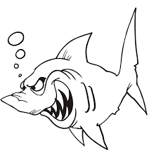 shark coloring book coloring pages kids