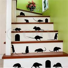 home decor wall art stickers amazon com rats mice doors set of 17 vinyl lettering decal home