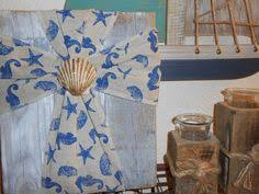 Nautical Themed Ribbon - buck and doe with texas windmill painted on reclaimed rustic wood