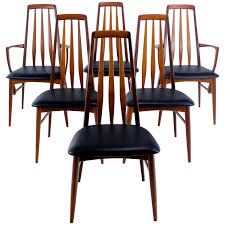 set of six danish modern high back dining chairs designed by niels