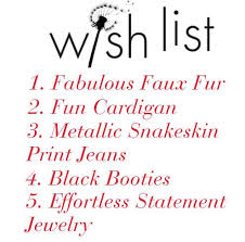 my wish list winter wish list