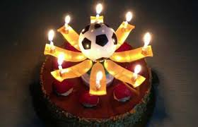 amazing birthday candle footballer sports themed birthday celebration ideas on sale