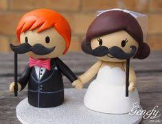 mustache cake topper and groom with flags https www