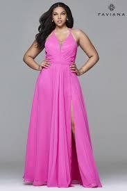 plus size prom dresses faviana