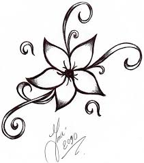 design flower rose drawing pictures of flower tattoo designs free download best pictures of