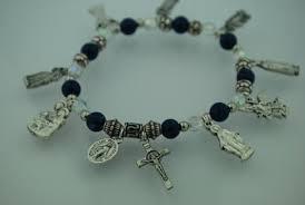 themed charm bracelet assorted saints and catholic themed charm bracelet