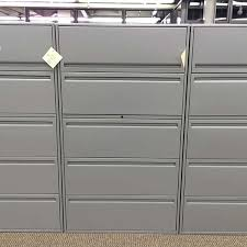Lateral File Cabinet 5 Drawer Used Teknion 5 Drawer 36 Lateral File Cabinet Gray Fil1405 001