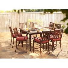 High Patio Dining Set Hton Bay Broadwell 9 High Patio Dining Set With