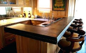 Design For Bar Countertop Ideas Standard Width Kitchen Bar Counter Design Open And Two Stool Inte