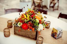 orange and yellow fall floral centerpieces elizabeth anne