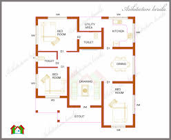 home plan home architecture three bedrooms in square kerala house plan