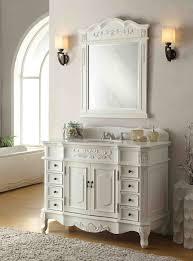 Antique White Vanity Set 48