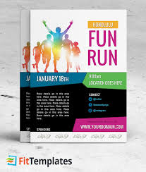 free race flyer template fun run 5k 10k marathon