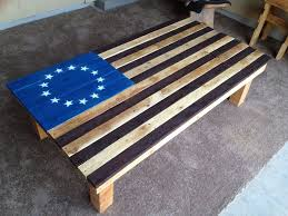 How To Fold A Flag For Hoisting American Flag Coffee Table Pallet Furniture 9 Steps With Pictures