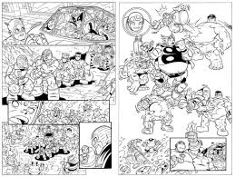 coloring pages super hero squad free printable marvel comic 734636