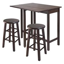 Drop Leaf Bistro Table Winsome Lynwood 3 Drop Leaf Pub Set With Seat Stools