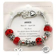 ring charm bracelet images Aries zodiac sign charm bracelet pandora inspired bead murano glass jpg