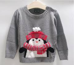children sweaters penguin design clothing 2 7 years baby