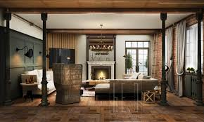 interior homes living rooms with exposed brick walls