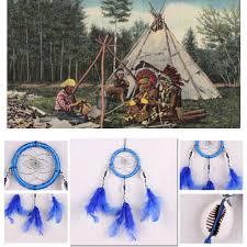 feather home decor dream catcher ornament handmade home decor natural blue feather