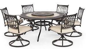 Patio Furniture Swivel Chairs Home Design Outstanding Patio Furniture Round Table Set Dining