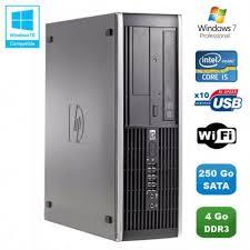 pc bureau wifi intégré pc hp compaq elite 8100 sff intel i5 650 3 2ghz 4go 250go